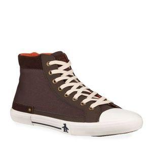 NEW Original Penguin Chocolate Hightop Sneakers